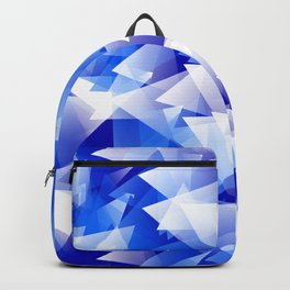 triangles in shades of blue Backpack