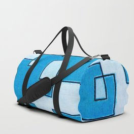 Protoglifo 05 White clouding to blue Duffle Bag
