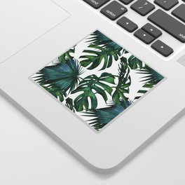 Classic Palm Leaves Tropical Jungle Green Sticker