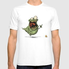 Slimer and his Peep White SMALL Mens Fitted Tee