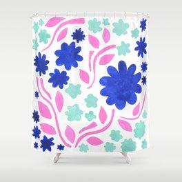 Cool Folk Floral Shower Curtain