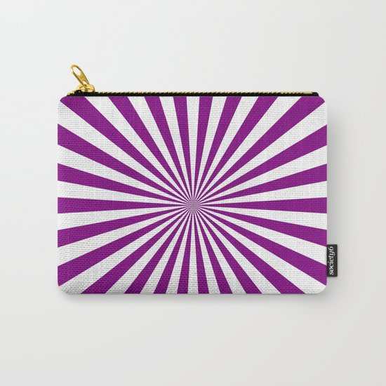 Starburst (Purple/White) Carry-All Pouch