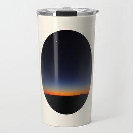 Orange & Blue Sunset Over The Australian Outback Round Photo Travel Mug