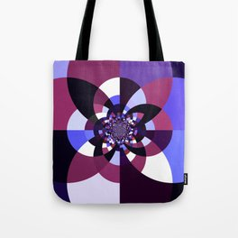 Purple Magenta Periwinkle Kaleidoscope Mangala Tote Bag