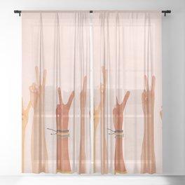 Peace Sheer Curtain