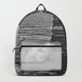 Dun Briste II Black and White Backpack