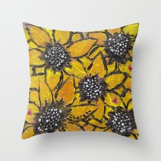 Sun-smiles Throw Pillow