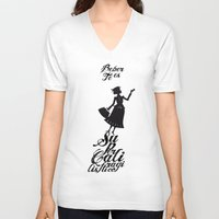 mary poppins V-neck T-shirts featuring Mary Poppins té by Creo tu mundo