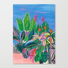 Tropical Patio Canvas Print