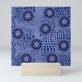 savage indigo Mini Art Print