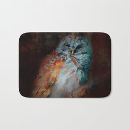Abstract Barred Owl Bath Mat