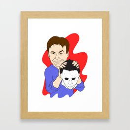 Michael Myers Unmasked Framed Art Print