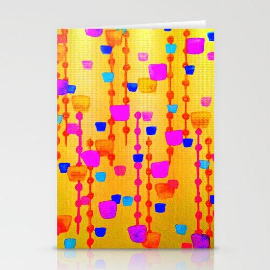 POLKA DOT MATRIX - Bright Bold Cheerful Dotty Geometric Squares Circles Abstract Watercolor Painting Stationery Cards