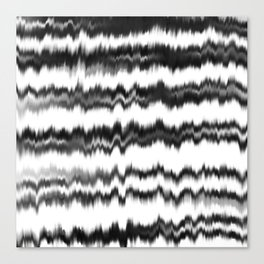 Black+White Soundwaves Canvas Print