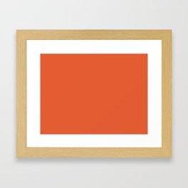 Burnt Orange Solid Framed Art Print