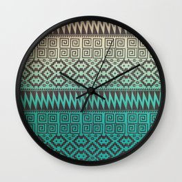 Pixel Pattern Wall Clock