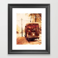 St Charles Street Car - New Orleans Framed Art Print