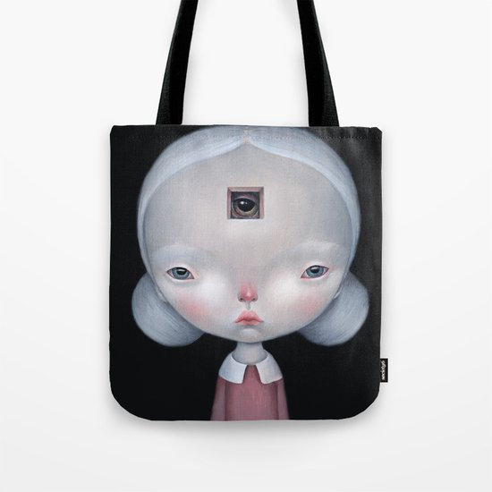 Monster inside Tote Bag