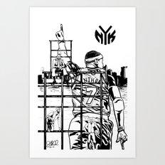 Knicks Liberty Art Print