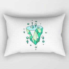 Little Emerald World Rectangular Pillow