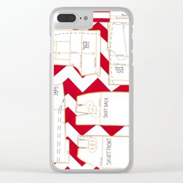 Seaside Stripes Slopers Clear iPhone Case