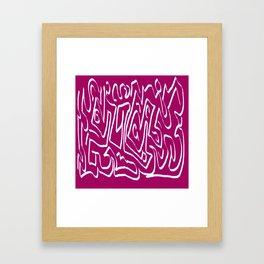 Laberinto violet white Framed Art Print