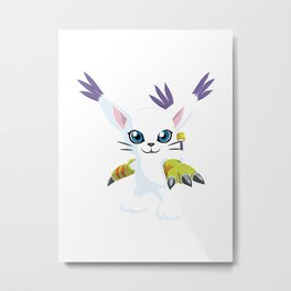 DIGIMON - Gatomon Metal Print