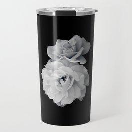 Black and White Roses Travel Mug