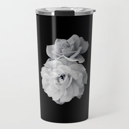 Black and White Roses Travel Mug