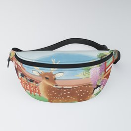 Vintage 1930s Japanese Travel Poster - Japan Fanny Pack
