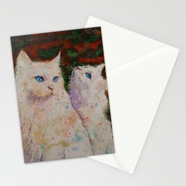 White Cats Stationery Cards