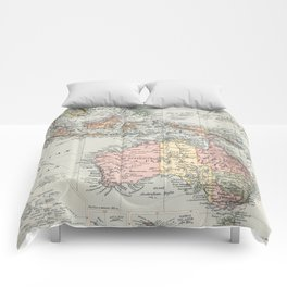 Vintage Map of Oceania (1892) Comforters