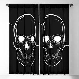 Black Skull Blackout Curtain