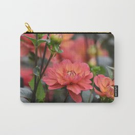 Salmon Colored Dahlias Carry-All Pouch