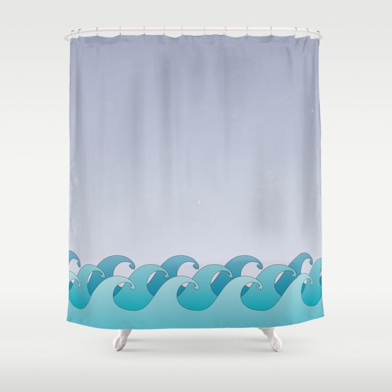 Ocean themed shower curtains - Beach Themed Shower Curtains Ocean Shower Curtains Nujits Com