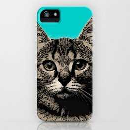 Cat. Pop art cat iPhone Case