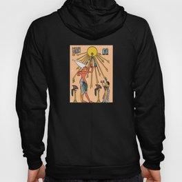 Egyptian pharao sun aten worship print Hoody
