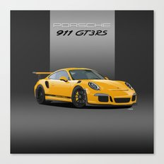 Porsche 911 GT3 RS in Racing Yellow Canvas Print