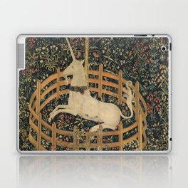 The Unicorn in Captivity (from the Unicorn Tapestries) Laptop & iPad Skin