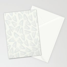 Snow Tracks Modern Cutout Papier Découpé Pattern in Off-White and Pale Gray Stationery Cards