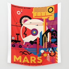 NASA Visions of the Future - Mars Tours Wall Tapestry