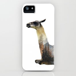 Llama Double Exposure iPhone Case