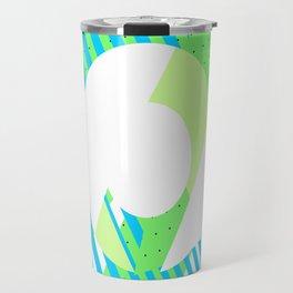Triangle Theory, No.1 in Blue & Lime Travel Mug