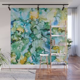 Stained Glass Pond Wall Mural