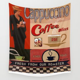 Vintage poster - Cappuccino Wall Tapestry