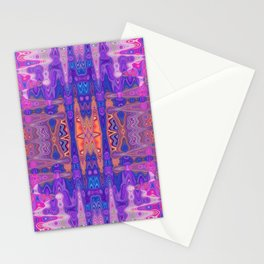 Abstract Multi-coloured Design 681 Stationery Cards