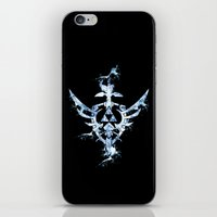 triforce iPhone & iPod Skins featuring Water Triforce by bivisual