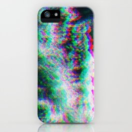Oceanic Glitches - Splash of Greenery iPhone Case