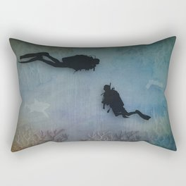 Scuba Divers Rectangular Pillow