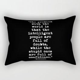 Charles Bukowski Typewriter White Font Quote Confidence Rectangular Pillow